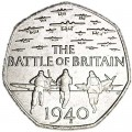 50 pence 2015 United Kingdom 75 years of the Battle of Britain