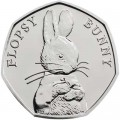 50 pence 2018 United Kingdom 150th Birthday Beatrice Potter, Flopsy Bunny