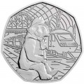 50 Pence 2018 Vereinigtes Königreich 150. Geburtstag Beatrice Potter, Paddington at the Station