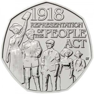 50 pence 2018 United Kingdom, Representation of the People Act 1918