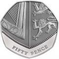 50 pence 2019 United Kingdom, Royal Shield