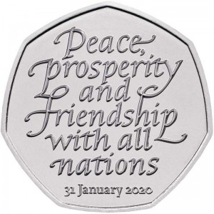 50 pence 2020 United Kingdom, Withdrawal from the European Union