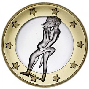6 sex euros badge coin, type 20