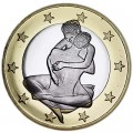 6 sex euros badge coin, type 26
