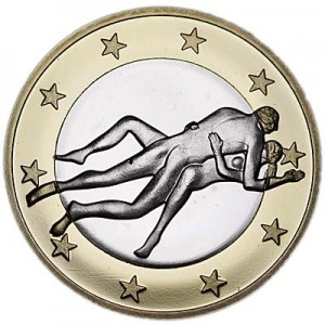6 sex euros badge coin, type 27