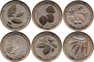 Coin set 2014 200 drams Armenia Trees 6 coins