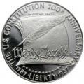 1 доллар 1987 200 лет Конституции, серебро proof