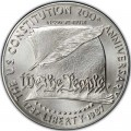 1 доллар 1987 200 лет Конституции, серебро UNC
