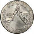 1 доллар 1988 Олимпиада в Сеуле, серебро UNC