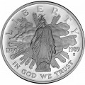 1 доллар 1989 200 лет Конгрессу, серебро proof