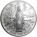 1 Доллар 1989 200 лет Конгрессу, серебро UNC