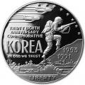 1 доллар 1991 Война в Корее, серебро proof