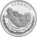 1 доллар 1991 США Гора Рашмор,  proof, серебро