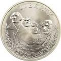 1 доллар 1991 Гора Рашмор, серебро UNC