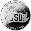 1 dollar 1991 USA USO Silber proof