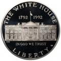 1 доллар 1992 200 лет Белому дому, серебро proof