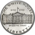 1 доллар 1992 200 лет Белому дому, серебро UNC