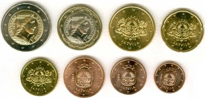 Euro coin set Latvia 2014 (8 coins)