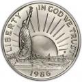 50 центов 1986 100 лет Статуе Свободы, proof