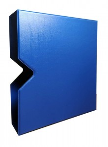Schuber (case) for SOMS album, OPTIMA size (blue)