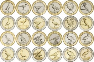 Coin Set 1 Kurush 2019 Turkey Birds of Anatolia, 24 Coins