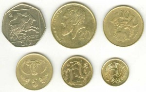 Set coins of Cyprus 1988-1996, 6 coins