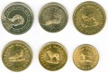 Set of coins of Macedonia 1993-2008, 6 coins