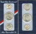 Набор монет США 200 лет независимости 1776-1976, серебро UNC