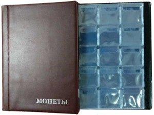 Album by 120 cell, 8 sheets. The size of the cells - 35x35 mm AM-120 (brown)