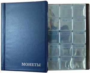 Album by 150 cell, 10 sheets. The size of the cells - 35x35 mm AM-150 (blue)