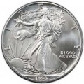 1 доллар 1990 США Шагающая Свобода, серебро UNC
