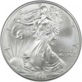 1 доллар 1998 США Шагающая Свобода, серебро UNC