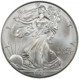 American Eagle 1999 One Ounce  Uncirculated Coin, silver