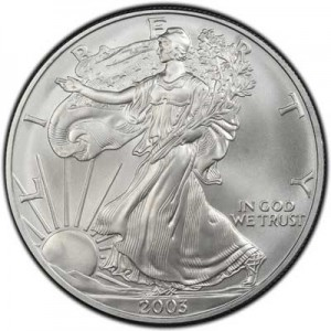 American Eagle 2003 One Ounce  Uncirculated Coin, silver