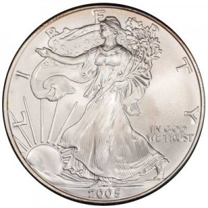 American Eagle 2005 One Ounce  Uncirculated Coin, silver