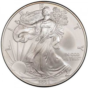 American Eagle 2008 One Ounce  Uncirculated Coin, silver