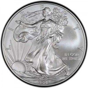 American Eagle 2009 One Ounce  Uncirculated Coin, silver
