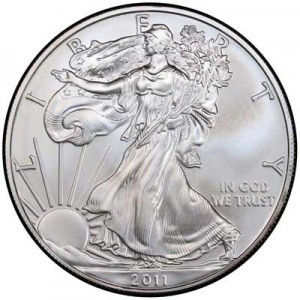 American Eagle 2011 One Ounce  Uncirculated Coin, silver