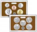 Годовой набор монет США 2017 пруф, никель двор S (2 пластины)