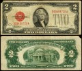 2 dollars 1928 F USA with red seal, Banknote, F