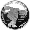1 доллар 1983 Дискобол серебро, proof