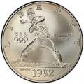 Dollar 1992 XXV Olympiad Baseball silver UNC
