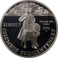 Dollar 1992 Christoph Kolumbus Quincentenarys Silber proof