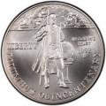 1 доллар 1992 Колумб, серебро UNC