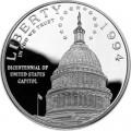 1 доллар 1994 200 лет Капитолию, серебро proof
