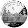 1 доллар 1994 США Музей военнопленных, серебро proof