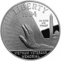 1 доллар 1994 Мемориал Ветеранам Вьетнама, серебро proof