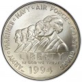 Dollar 1994 Women in Military Service for America silver UNC