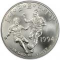 1 доллар 1994 США Чемпионат мира по футболу, серебро UNC