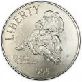 1 доллар 1995 США Гражданская война,  UNC, серебро